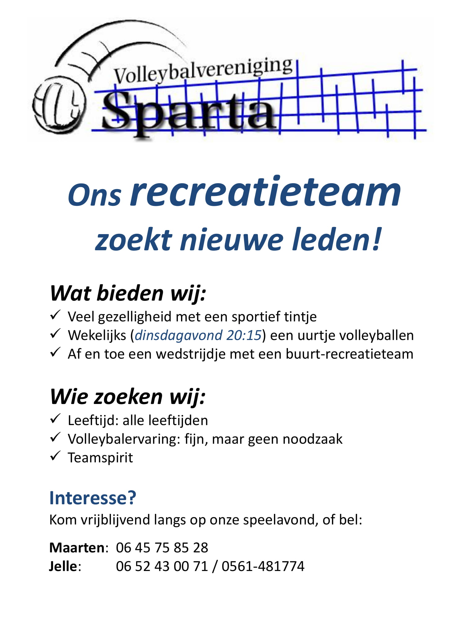 Werving recreanten 1